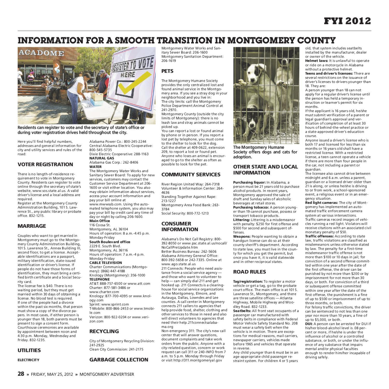 2012 FYI Montgomery by Montgomery Advertiser - issuu