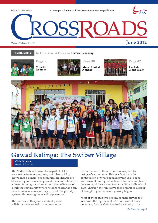 Crossroads June 2012 By Singapore American School Issuu