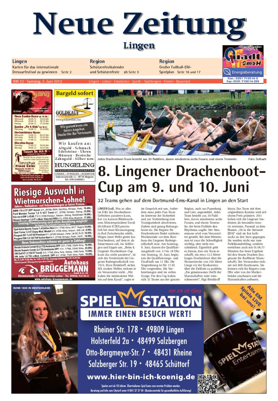 Neue Zeitung Ausgabe Lingen Kw 22 2012 By Gerhard Verlag Gmbh Issuu