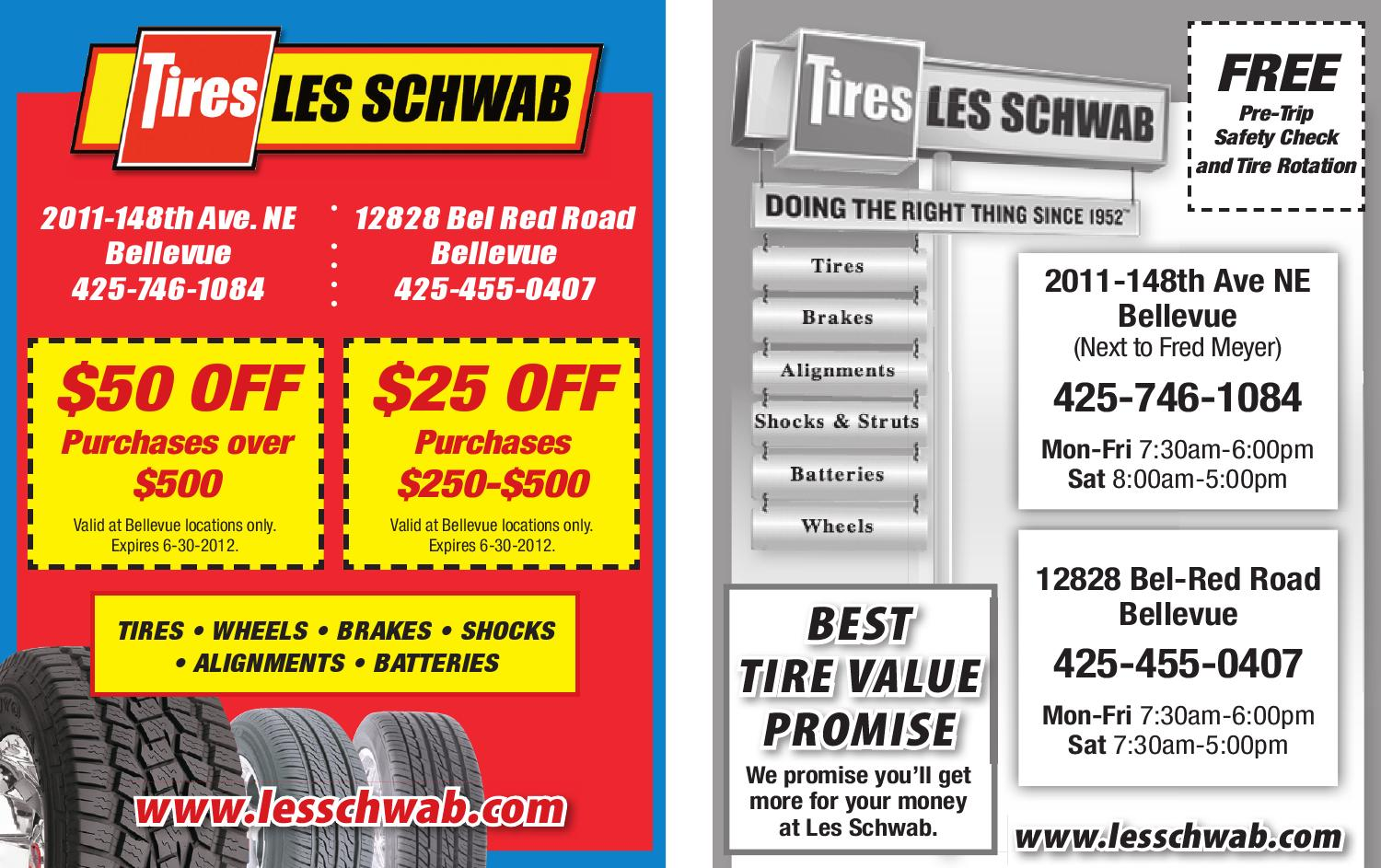 Tire Rotation Coupon >> Coupons - Les Schwab JUNE 2012 Coupon by Sound Publishing - Issuu