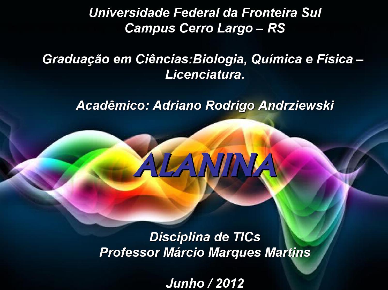Estudo Da Molécula Alanina By Adriano Rodrigo Andrziewski