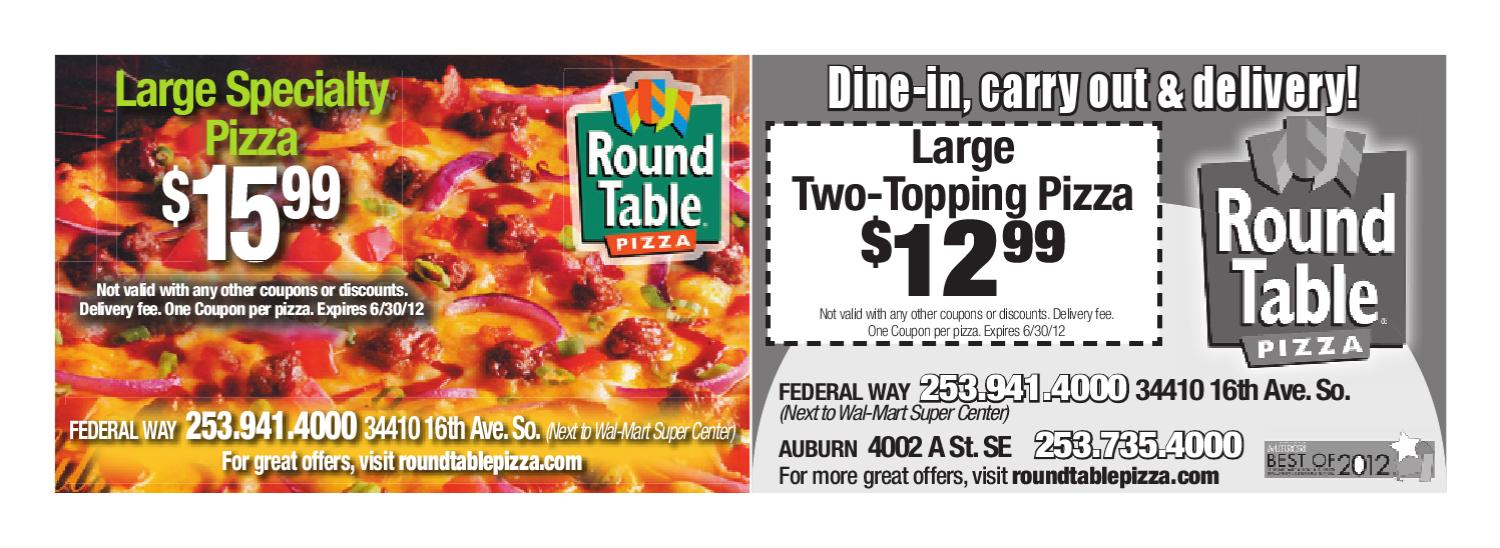 Coupons Round Table Pizza By Sound Publishing Issuu