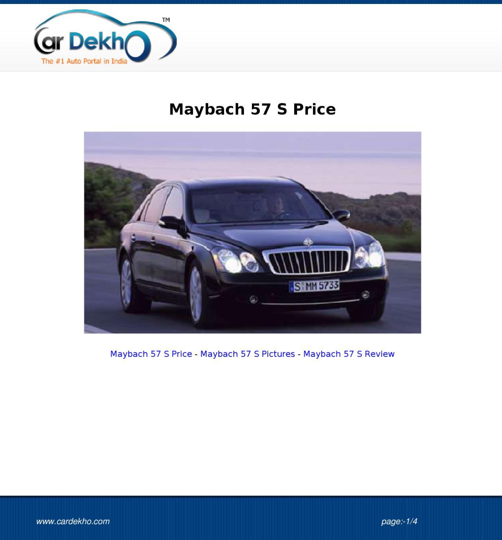 2012 Maybach 57 Camshaft