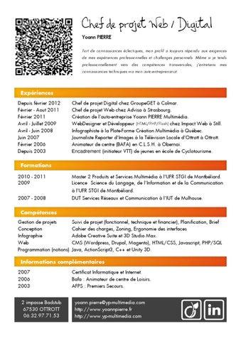 Croissant Yoann PIERRE - CV Chef de projet Web (Juin 2012) by PIERRE Yoann AM-77