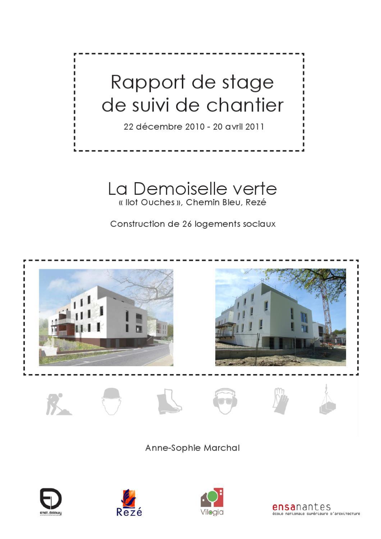 Stage suivi de chantier by anne sophie marchal issuu for Introduction rapport de stage cuisine