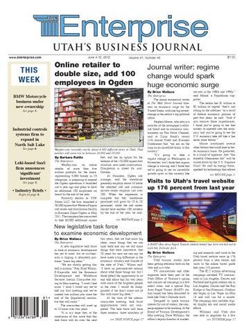 The Enterprise - Utah's Business Journal, June 4, 2012 by