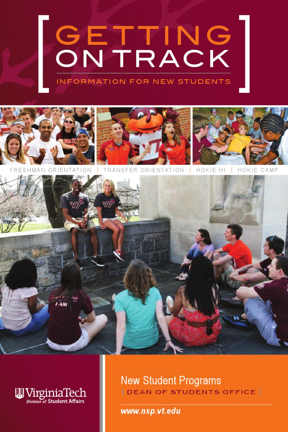 Getting On Track 2012 By Virginia Tech New Student Programs Issuu