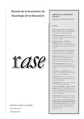 fee86ee2e353 RASE: Volumen 5, número 2 by RASE - issuu