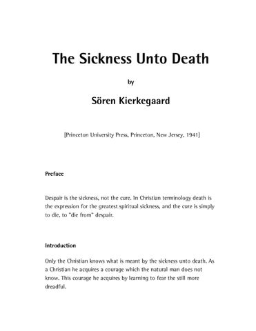 courage is lifes only measure kierkegaard