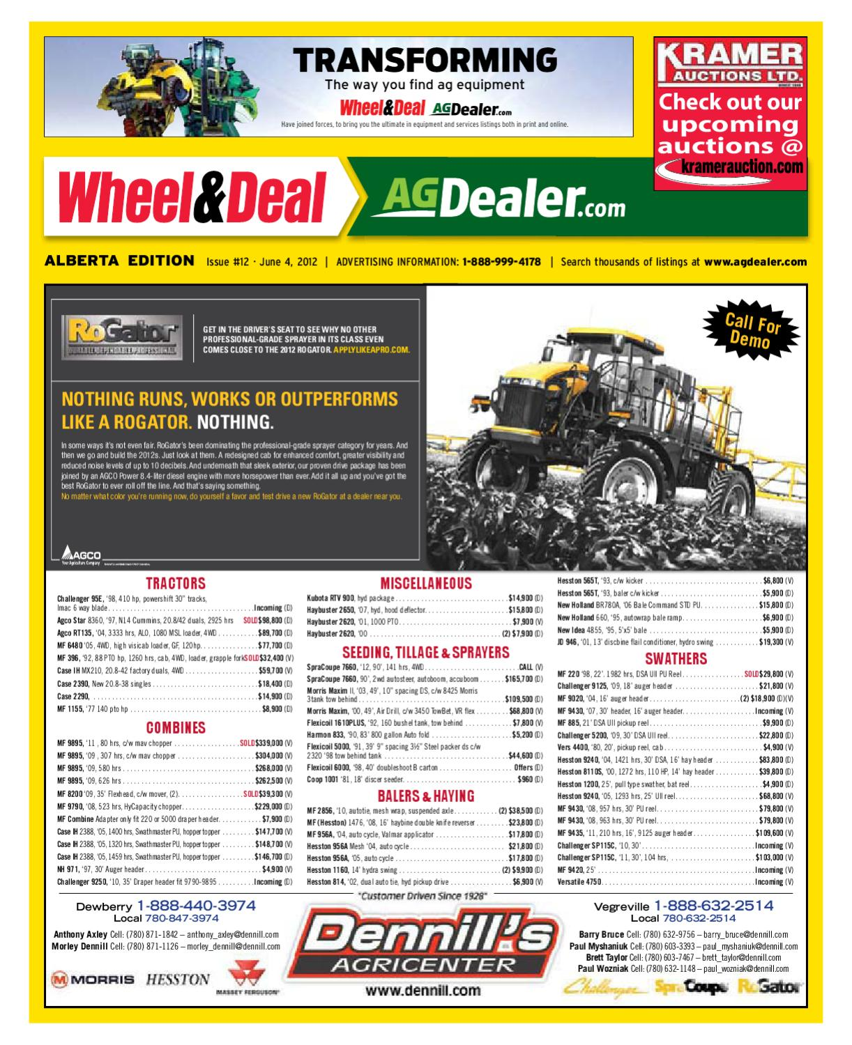 Wheel & Deal Alberta, June 4, 2012 by Farm Business Communications -  issuu