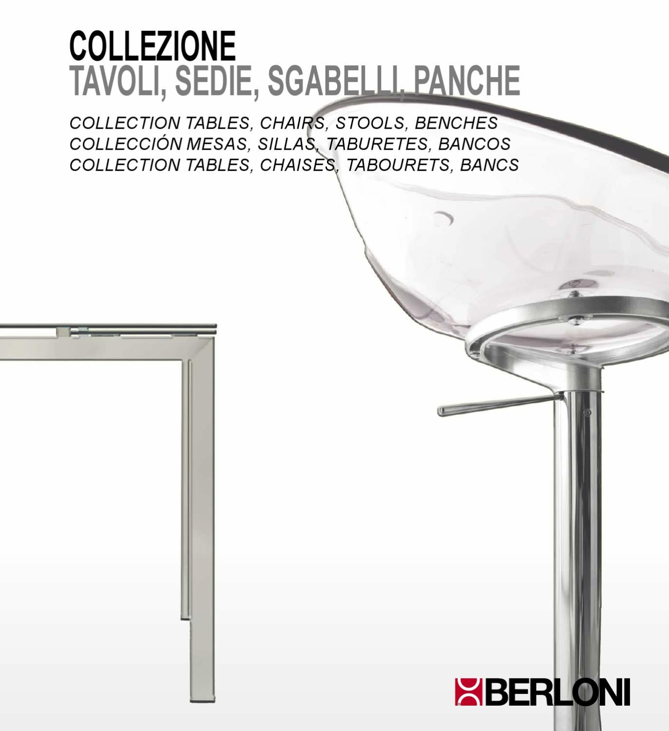 Tavolo Cucina Sedie Berloni.Berloni Kitchen Tables Chairs Stools Benches By