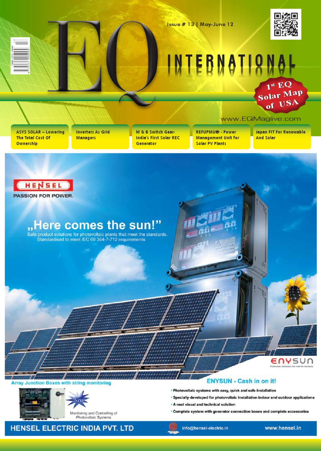Eq May June 2012 Issue Intersolar Eu Na Special By Intl Circuit Breaker 2 Pole 25a 230v 50 60hz For Gas Diesel Generator Solar Media Group Issuu