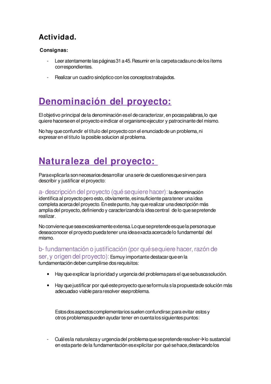 Denominación Y Naturaleza Del Proyecto By Florday Secchi