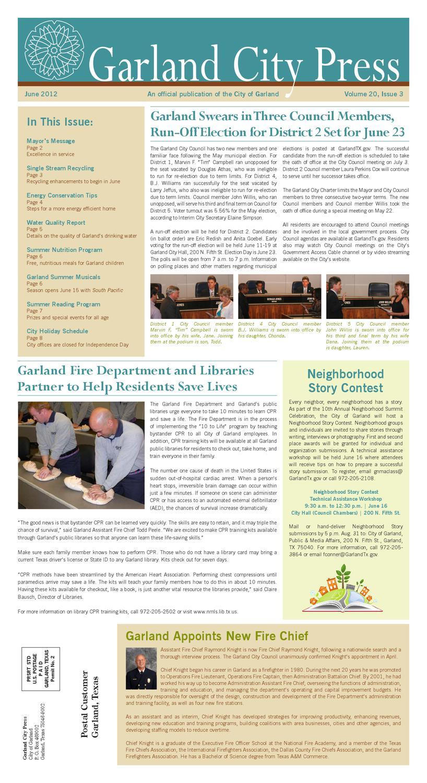 Garland City Press (June 2012) by City of Garland, Texas - issuu