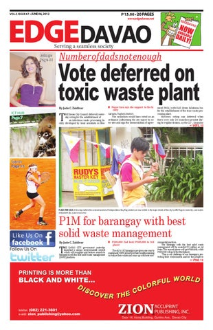 Edge Davao 5 Issue 67 by Edge Davao The Business Paper - issuu