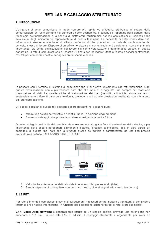 Schema Cablaggio Cavo Lan : Cablaggio strutturato by piolo trafelli issuu