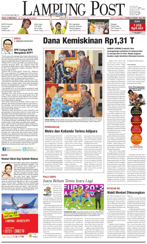 Lampungpost Edisi 6 Juni 2012 By Lampung Post Issuu Ramatranz Travel Jakarta Palembang Dan Paket Kilat