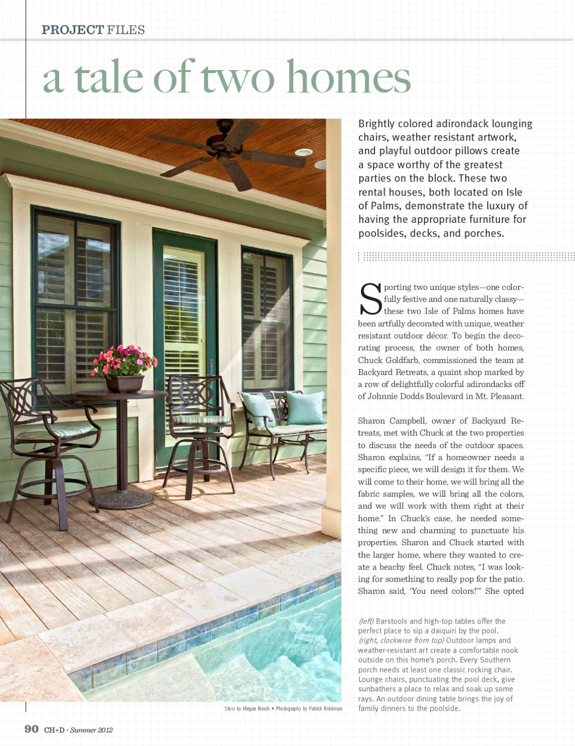 Charleston Home Design Magazine Summer 2012 By Charleston Home Design Magazine Issuu