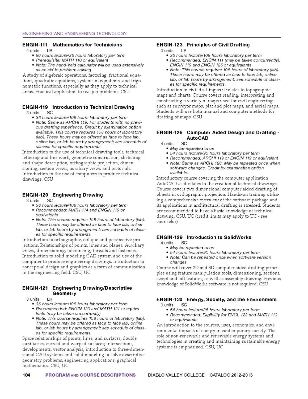 Diablo Valley College Catalog 2012-2013 by Diablo Valley