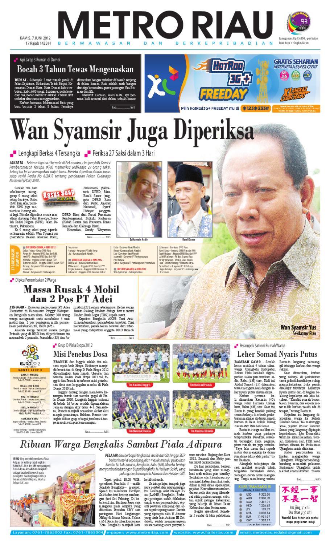 Metroriau 07 06 2012 By Harian Pagi Metro Riau Issuu Keripik Bawang Srikandi Kontan