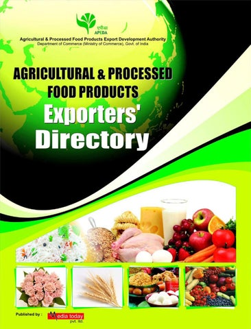 APEDA EXPORTER'S DIRECTORY by Media Today Pvt  Ltd  - issuu