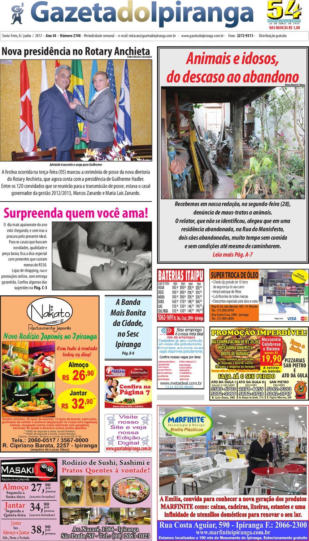 703fdc8434a Gazeta do Ipiranga - Edição de 08 06 2012 by Casé Oliveira - issuu