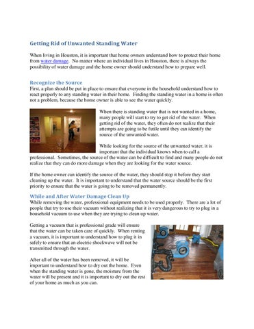 how to get rid of stiff water damage pages