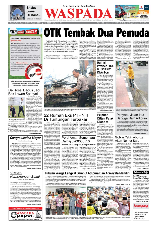 Waspada Jumat 8 Juni 2012 By Harian Issuu Rejeki Anak Soleh 3 Voucher Carrefour Rp 200000