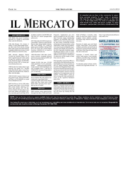 June 8 issue of The Signature by NAS Sigonella Signature - issuu