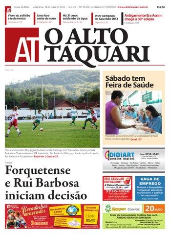 Jornal O Alto Taquari - 18 de maio de 2012 by Jornal O Alto Taquari ... 6094d6ad63348