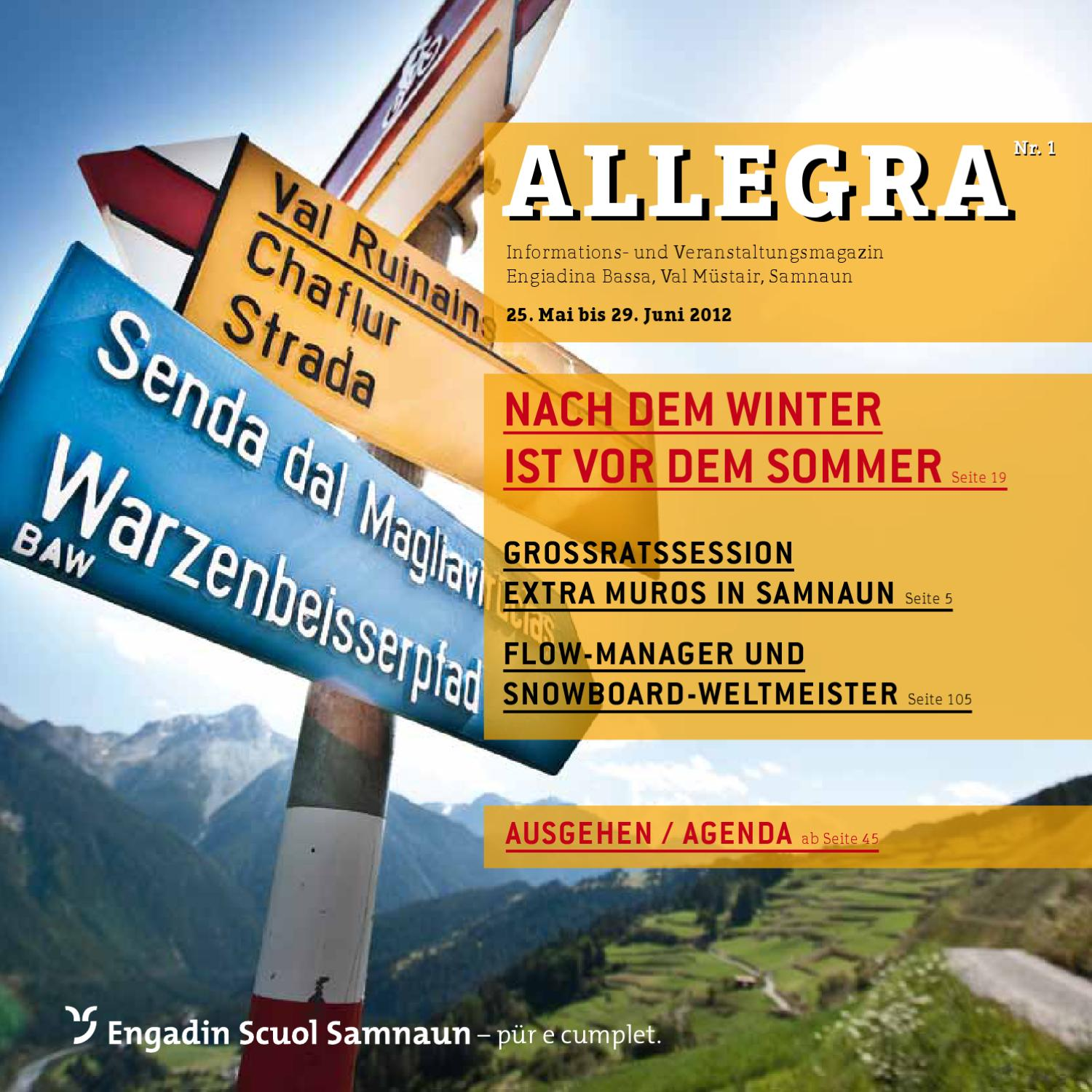 Allegra by Tourismus Engadin Scuol Samnaun Val Mstair AG