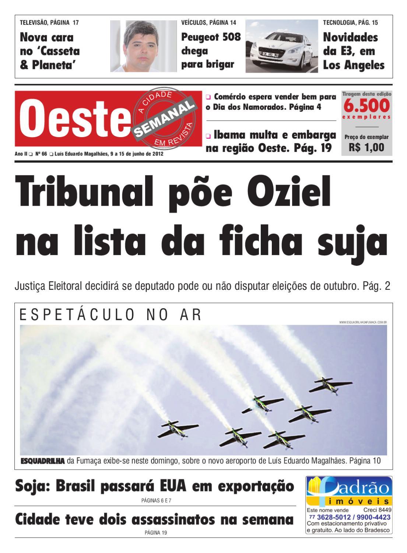 2ffc5c5466 Oeste Semanal Edição 66 by Diario do Oeste - issuu