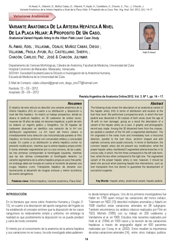 Revista Argentina de Anatomía Online 2012; 3(1):1-28. by Nicolas ...