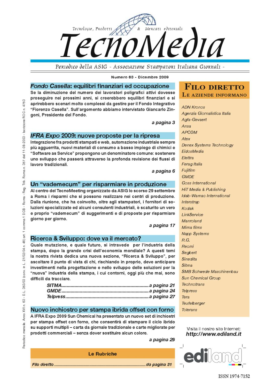TecnoMedia 63 by ASIG Associazione Stampatori Italiana Giornali - issuu fc26974338d
