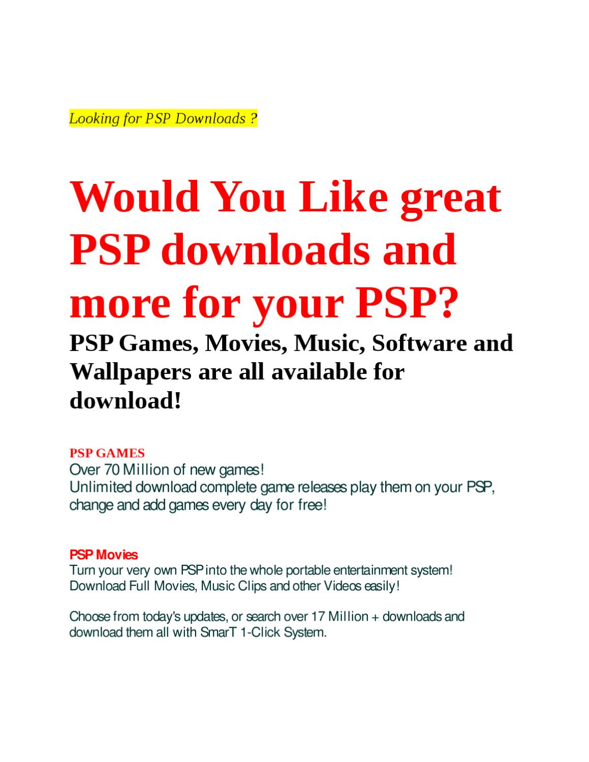 PSP Downloads by FPMC - issuu