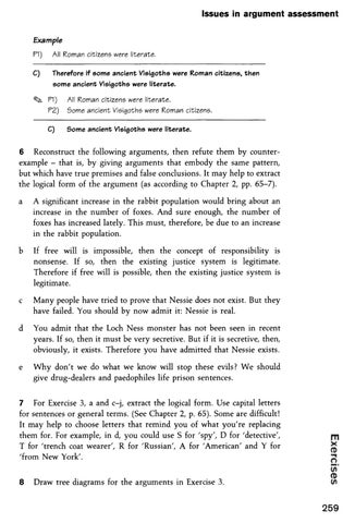 writing logically thinking critically exercise 3a