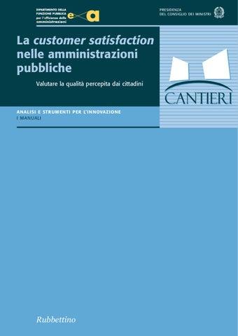La customer satisfation nelle amministrazioni pubbliche by Roberto ... 04f5e6eb5a2