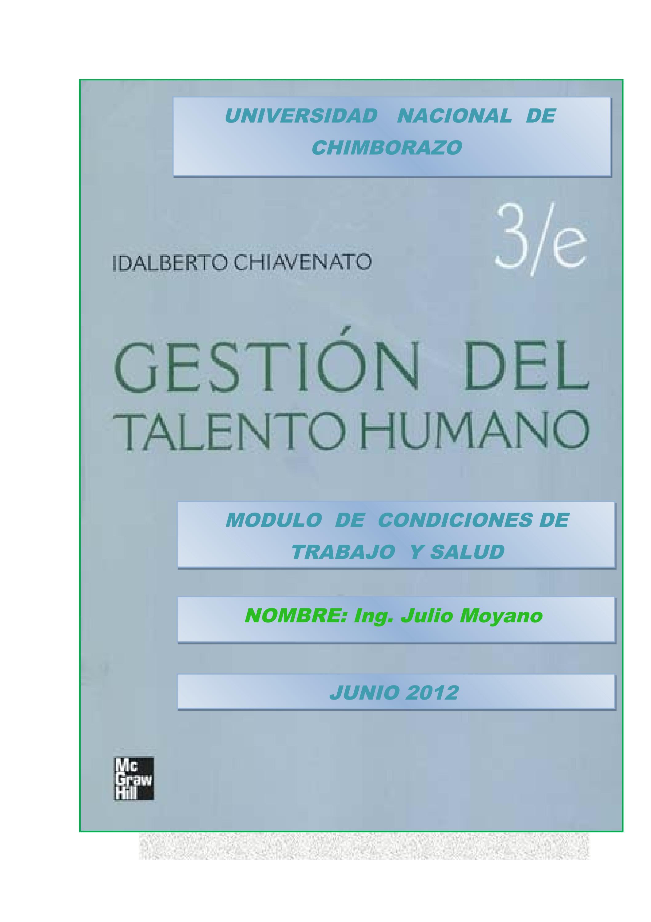 Gestión Del Talento Humano Autor Chiavenato By Julio Moyano