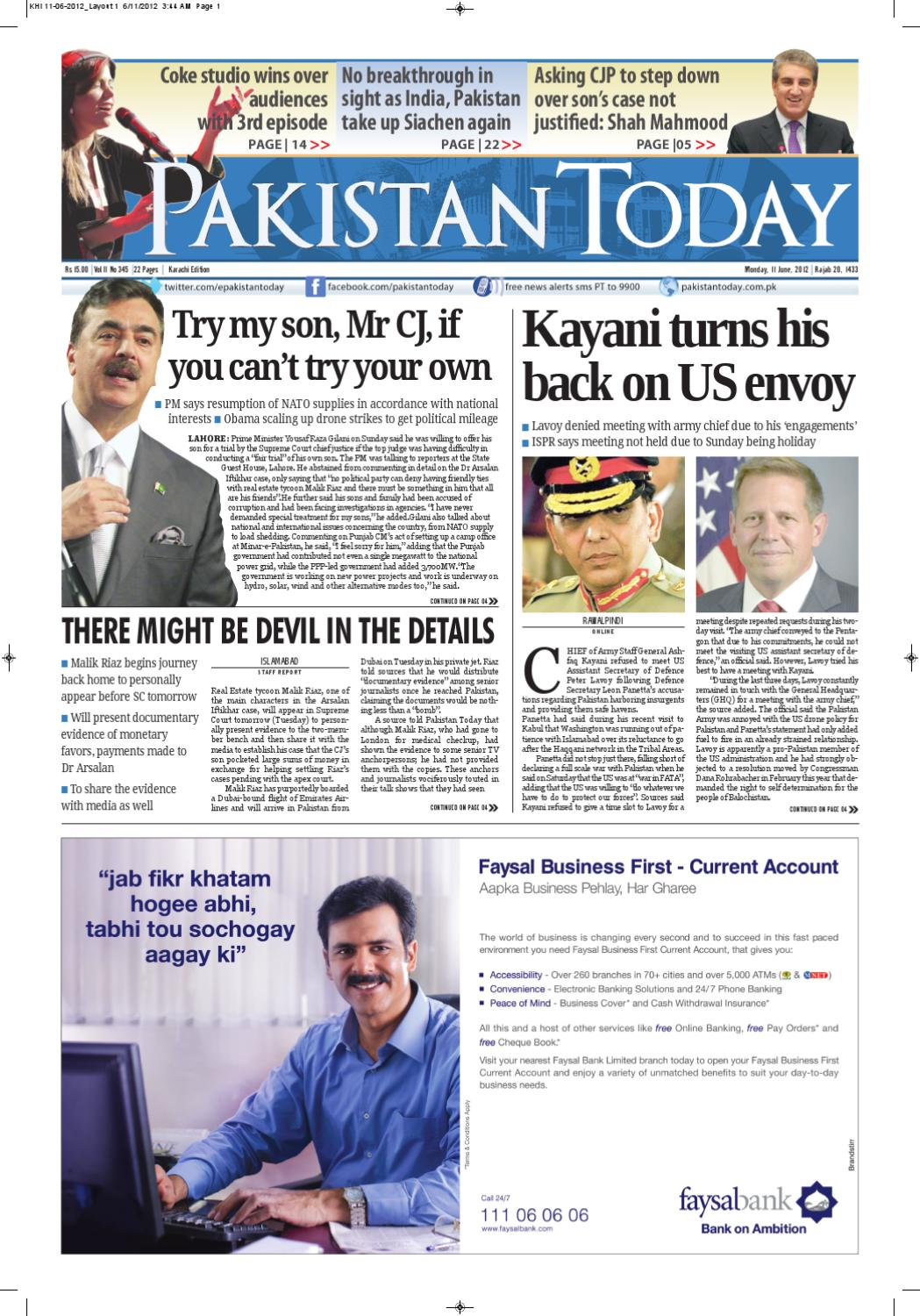 e-paper pakistantoday 11th june, 2012 by Pakistan Today - issuu
