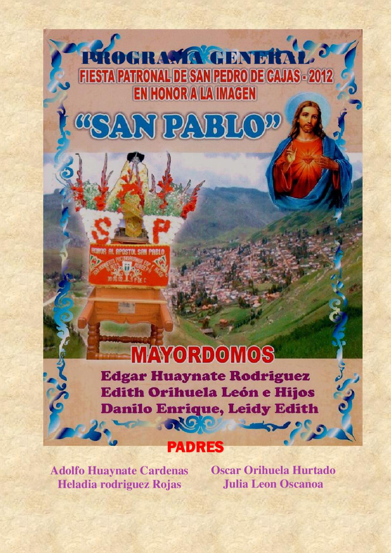 Fiesta Patronal San Pedro De Cajas By Lia Peru Issuu