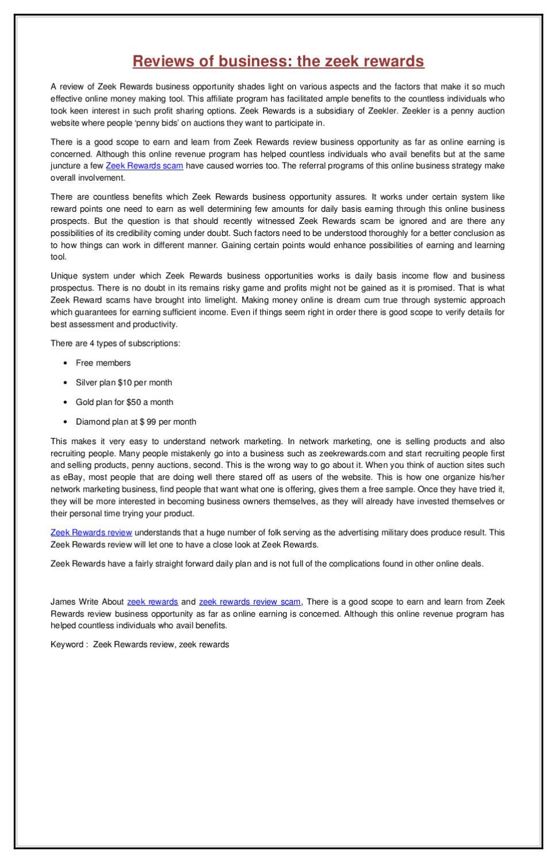 Reviews Of Business The Zeek Rewards By Ruben Santibanez Issuu