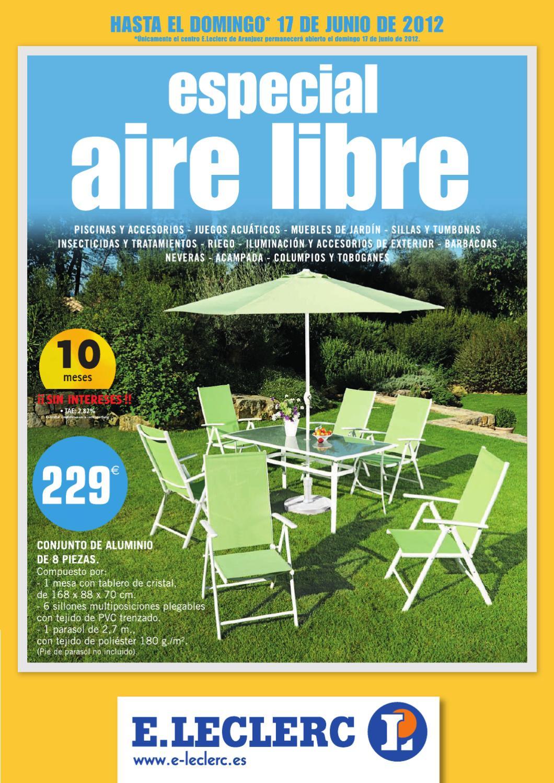 Catalogo leclerc piscinas y muebles de jard n verano 2012 for Catalogo de piscinas
