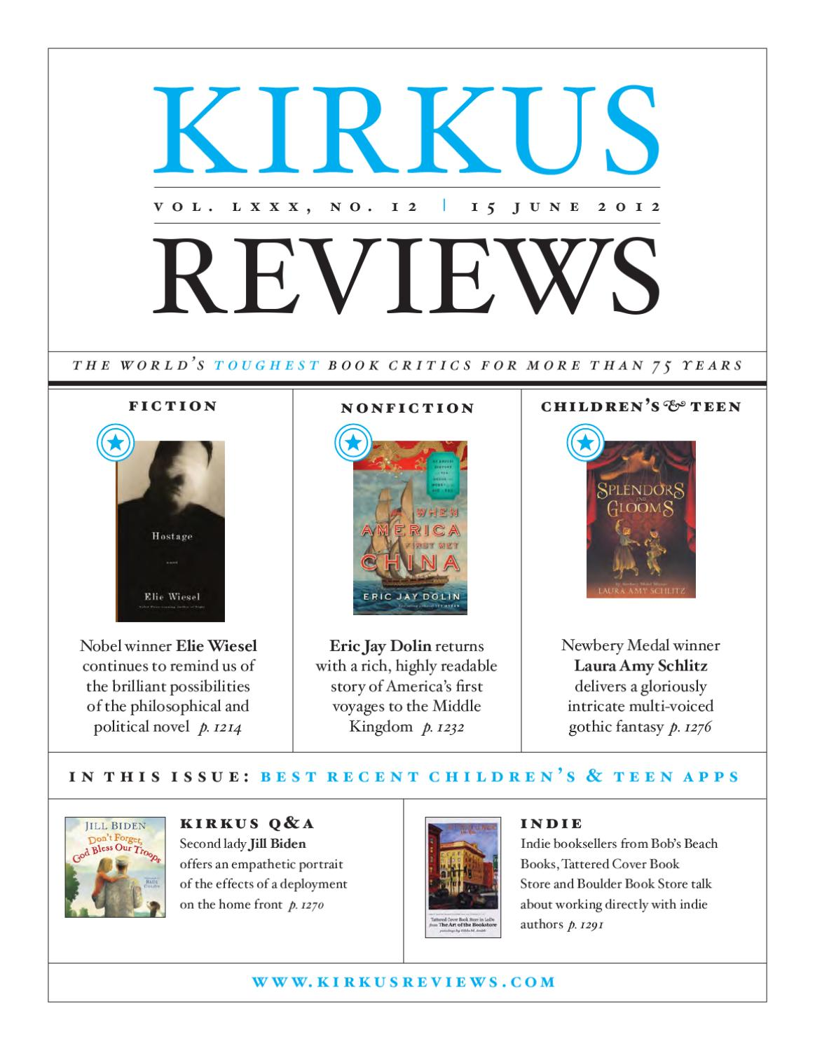 June 15, 2012: Volume LXXX, No 12 By Kirkus Reviews   Issuu