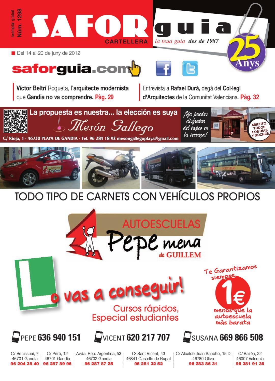 Semana Del 14 Al 20 De Juny De 2012 By Saforguia Mediaserviocio  # Muebles Casal Tauste