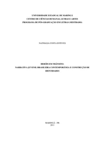 Heróis em trânsito  Narrativa Infantil Brasileira Contemporânea e ... 72705d06944