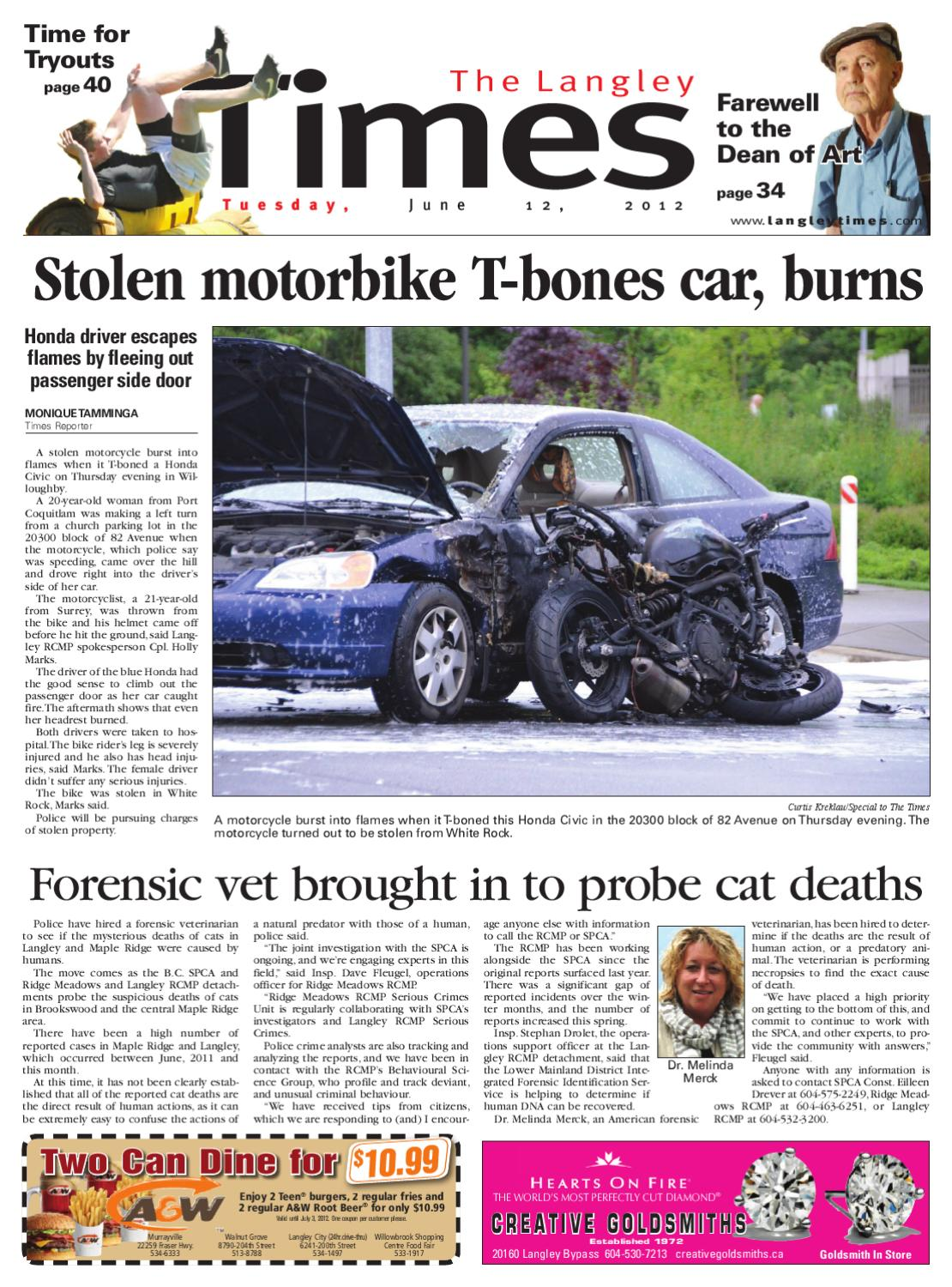 Langley Times June 12 2012 By Black Press Issuu 1990 Honda Accord Lx 230kvarious The Engine Just Cuts Off