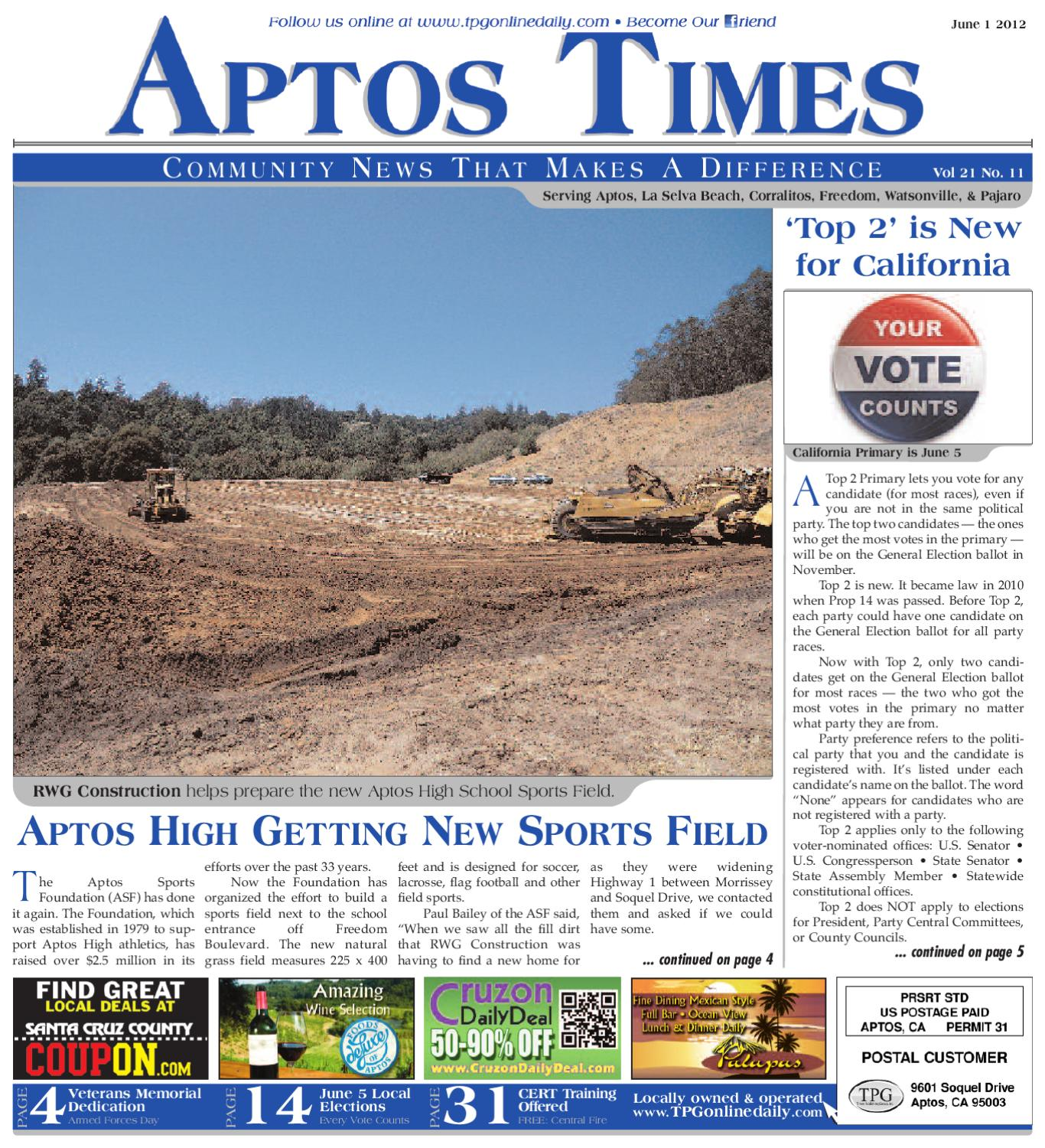 Aptos Times June 1st 2012 by Times Publishing Group issuu
