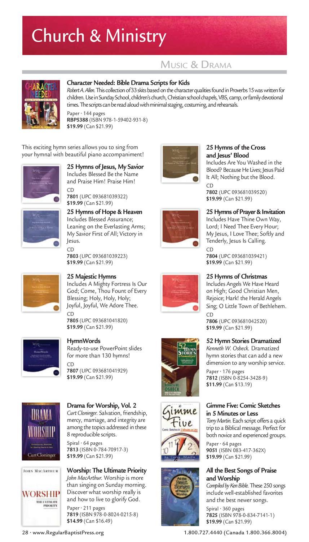 2012/2013 Church Resource Catalog by Regular Baptist Press