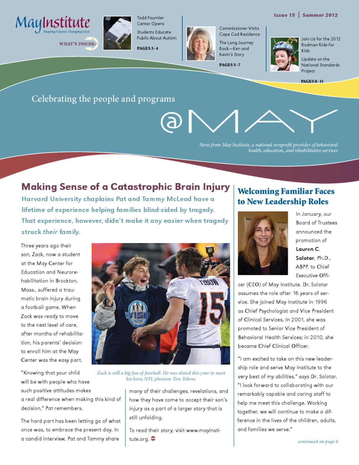 May Issue 15 Summer 2012 By May Institute Issuu