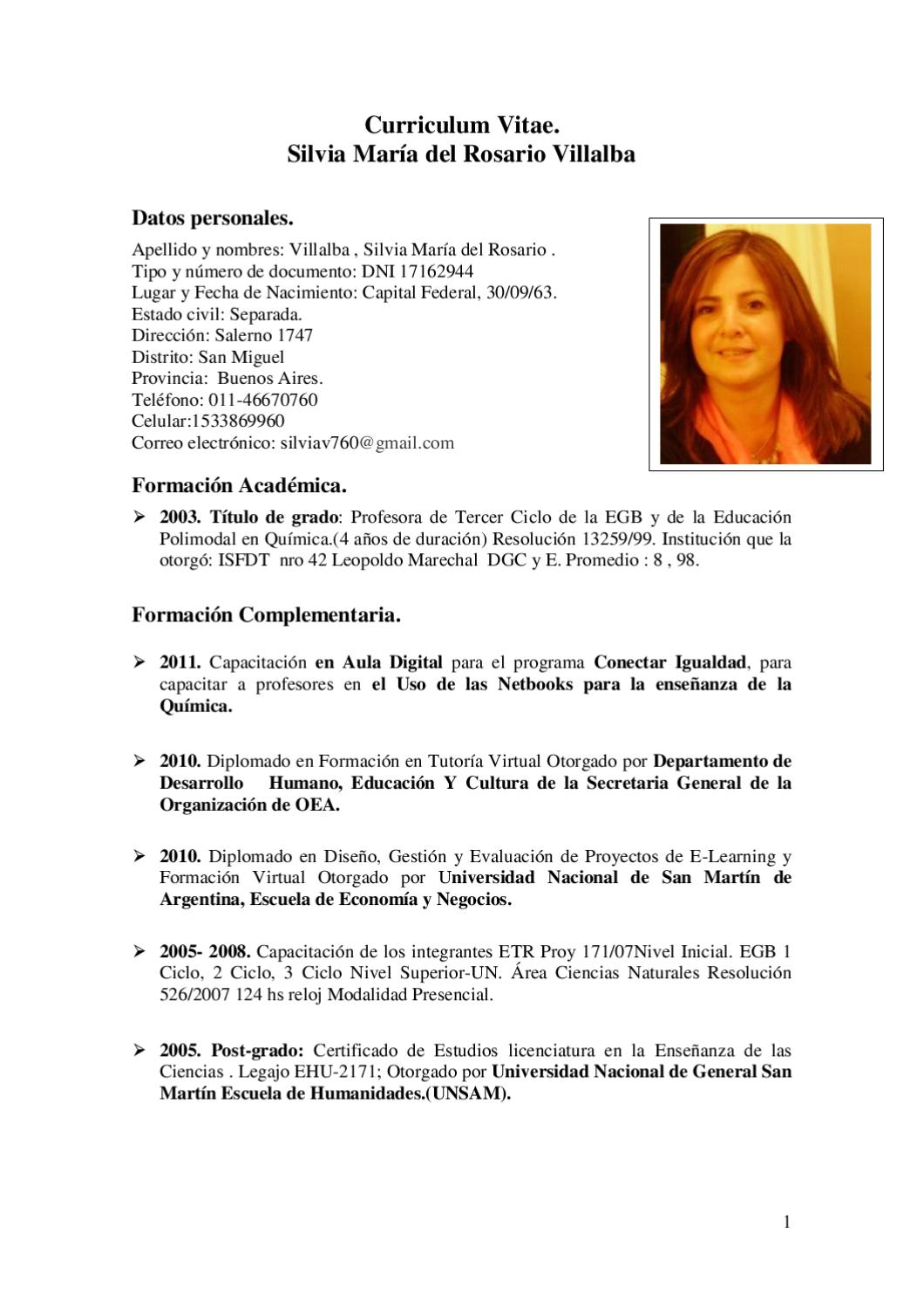 Curriculum by silvia villalba - issuu